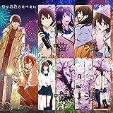 Anime Quiero comer tu Páncreas Translúcida Tarjeta Marcador secundaria Secundaria para los estudiantes Reading Regalo para niños Niña (8 piezas)