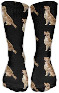 Golden Retriever Dogs Crew Calcetines Cotton Casual Knitting Warm Winter Calcetines