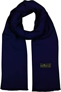 Bleu Nero Luxurious Winter Scarf Premium Cashmere Feel Solid Colors Men and Women