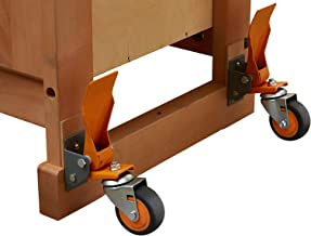 Bora Portamate PM-900 Workbench Caster Wheel Kit, 4 Heavy-Duty Swivel Casters with Total Weight Capacity of 620 lb for Workshop Mobility