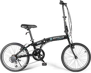 Goplus 20'' Folding Bike, 7 Speed Shimano Gears, Lightweight Iron Frame, Foldable Compact Bicycle...