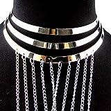 LUFA Chaîne de bikini Chaîne de harnais à cinq brins avec collier à col châle