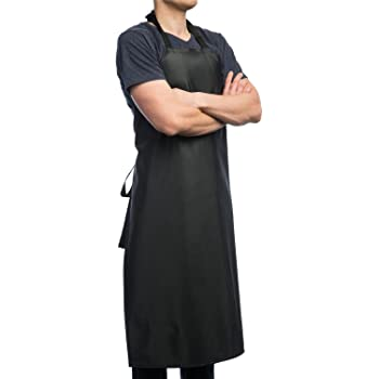 "Aulett Home Waterproof Rubber Vinyl Apron - 40"" Heavy Duty Model - Best for Staying Dry When Dishwashing, Lab Work, Butcher, Dog Grooming, Cleaning Fish - Industrial Chemical Resistant Plastic"