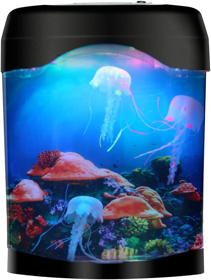 LED Super sale Jellyfish Lava Lamp Tank De Purchase Aquarium for Home