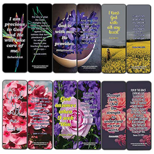 Christian Affirmations Bible Verses for Women Cards (30-Pack) - Daily Bible Reminders for Women
