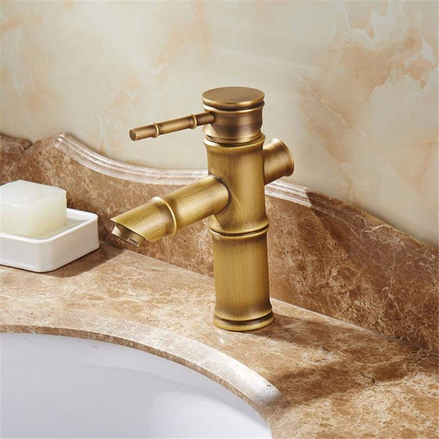 Bathroom Faucet Single Handle Bamboo Water Tap Antique Bronze Finish Brass Basin Sink Faucet Basin Faucet