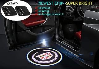 2Pcs for Cadillac Car Door Lights Logo, Car Door Led Projector Lights,Wireless Car Door Welcome Logo Lights for Cadillac All Models