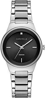 Caravelle Women's Quartz Watch with Stainless-Steel Strap, Silver, 14 (Model: 43P110)