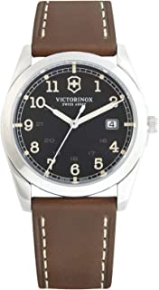 Victorinox Infantry Black Dial Leather Strap Mens Watch 241563XG (Renewed)