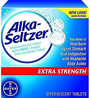 Alka-Seltzer-Extra Strength Tablets, Extra-Strength Antacid & Pain Relief, Original (24 Tablets)