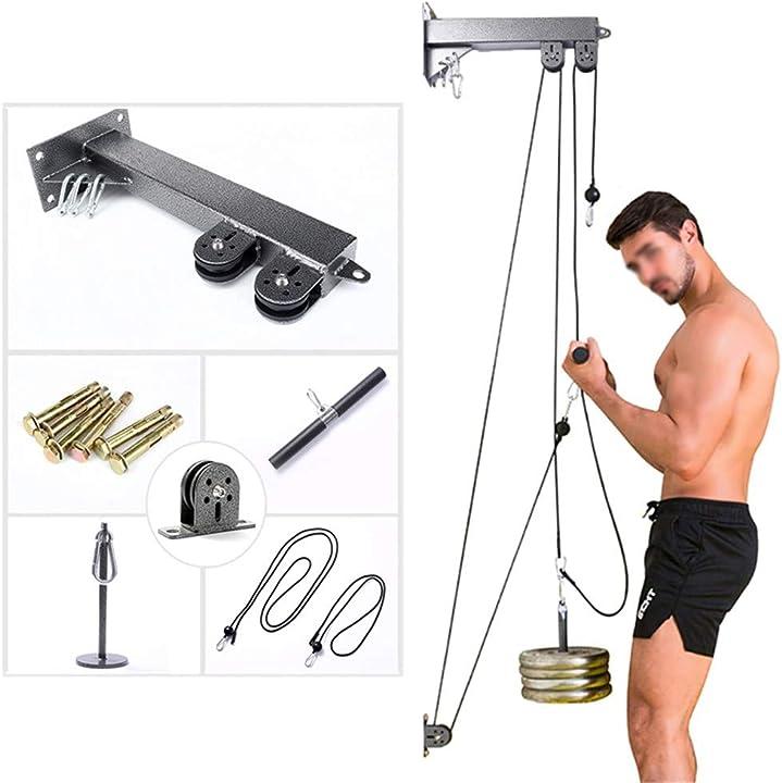 Sistema fitness puleggia gym palestra allenamento per bicipiti tricipiti spalle e schiena - homegym yydm 326-676-541