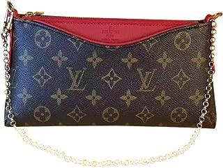 Womens PALLAS CLUTCH M44037 Bag Monogram canvas hangbag and shoulder bag