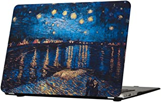 MacBook Air 13 Inch Case,Funut Hard PC Protective Case Smooth Rubberized Cover for, Model A1466 A1369 MacBook Air 13.3 Inch, Starry Night Over The Rhone