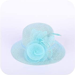 Straw Sun Hats Girls Cap Anti-UV Beach Floppy Cap for Ladies Flower Straw Hat