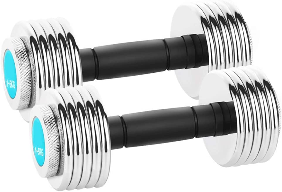 Dumbbell Set 1 Pair Electroplated Adjustable Pure Topics on TV Steel Max 63% OFF