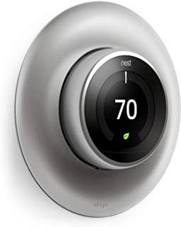 elago Wall Plate Cover for Nest Learning Thermostat 3rd, 2nd, 1st generation (Stainless Steel Color) - Luxurious Design, Easy Installation, Anti-Discoloration Coated, Soft Finish, Durable Material