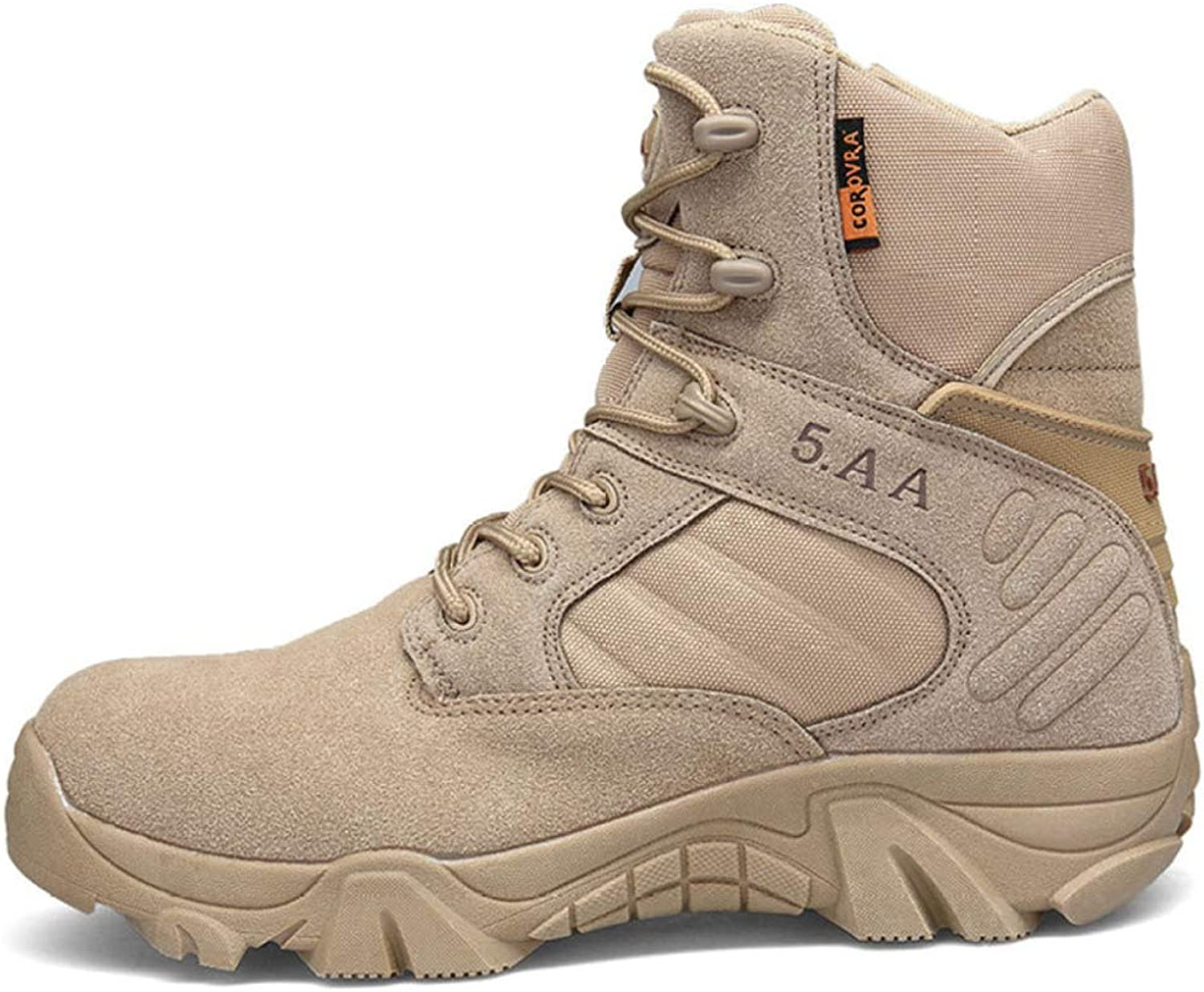 Mens Outdoor Mountaineering Desert Armed Tactics Boots Military Army Police Combat shoes Jungle Lace-Up Leather Footwear