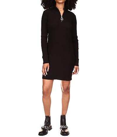 MICHAEL Michael Kors Long Sleeve Rib 1/2 Zip Dress