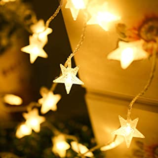 BJYHIYH Battery Twinkle Lights 16ft 40 LED Star String Lights for Bedroom Wedding Party Garden Decoration(Warm White)