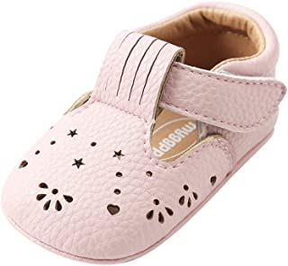 Weixinbuy Infant Baby Girls' Hollow Anti Slip Comfort Sole Mary Jane Flat Shoes