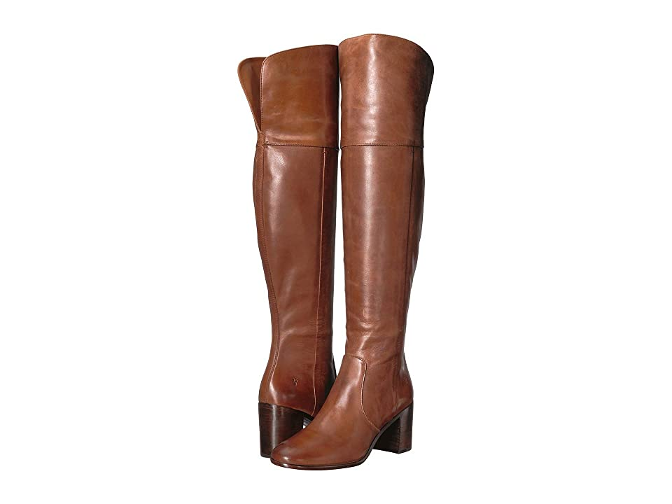 Frye Julia Over the Knee (Cognac Polished Soft Grain) Women