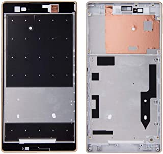 Repair tools,Completely fit and work Replace the old one Front Housing with Adhesive Sticker for Sony Xperia T2 Ultra(Black) (Color : Gold)
