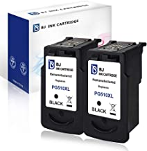 BJ - Cartuchos de tinta remanufacturados para Canon PG 510XL compatibles con Canon Pixma MP495, MP250, MP270, MP280, MP499, iP2702 MX350 y MP480 (2 negro)