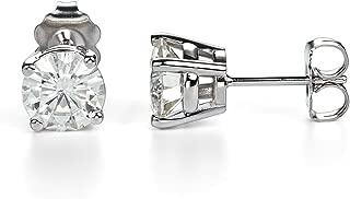 asscher cut moissanite earrings