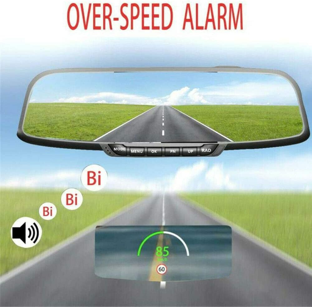 Black Display MPH or KM//h Digital GPS Speedometer For Car Motorcycles Car HUD Head Up Display with Over Speed Alarm Altitude