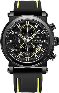 Andoer 2100 Men Watch Quartz Sport Simple Wristwatch Silicone Strap 3ATM Waterproof Calendar Chronograph Fashion Casual Ma...