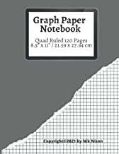 """Graph Paper Notebook / 120 Pages / Quad Ruled 5x5 / Large, 8.5"""" x 11"""": Grid Paper Composition, (Large, 8.5"""" x 11)"""" Math an..."""