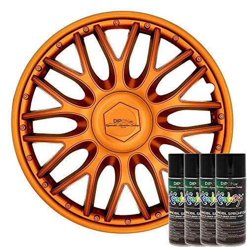 KandyDip® Sprühfolie Burnt Copper Flüssiggummi Felgenfolie Spraydosen Sets+2K, (1x Effekt, Matt)