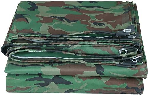 T-ShommeET Bache Pare-Pluie Camouflage Produits Imperméable à l'eau Prougeection Antigel écran Solaire Anti-Vieillissement Extérieur (LxW 4.8X5.8 m) Film en Tissu Plastique