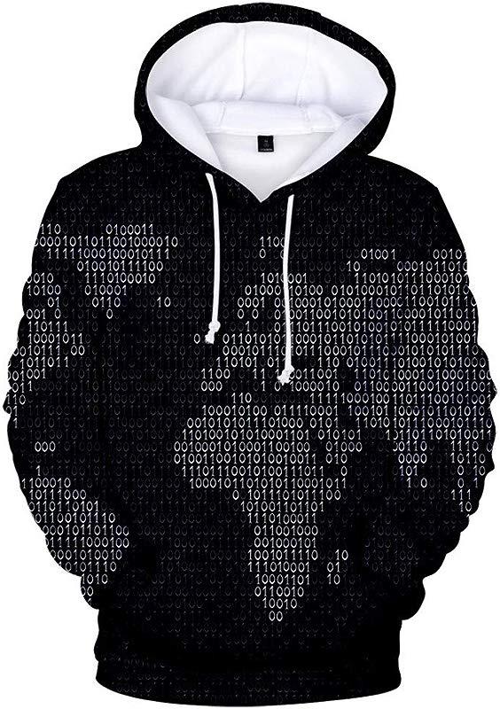 AsicuHu Fashion Unisex 3D Novelty Hoodies Graphic Patterns Print Beer Cheers Hoodies Pullover Sweatshirt Pockets Tops Hoodie Loose Fit Map Element