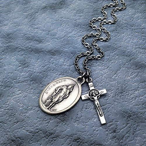 Saint Florian Necklace. Firefighter Gift