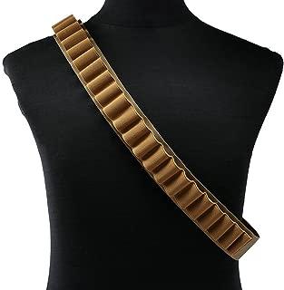 Yazilai Shotgun Shell Bullet Bandolier Belt Pump Shotgun Shell Holder Peppergun Bandoleer 27 Rounds