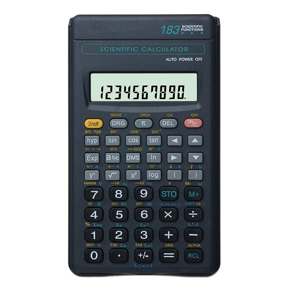 重力笑い着服電子式電卓 学生科学関数計算機多機能エネルギー計算機183関数関数 コンパクトポータブル
