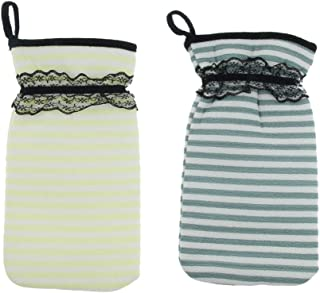 gazechimp 2個 バスグローブ シャワー用手袋 垢すり用グローブ ボディスポンジ 両面 入浴用品 角質除去