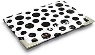 Soft Leather Travel Card Bus Pass Credit Card ID Card Wallet Cover Case Holder by Kwik Buy (Polka Dot White)