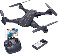 TKKJ L603 Foldable FPV RC Drone with 0.3MP HD Camera Wi-Fi Live Video Feed 2.4GHz 6-Axis Gyro Selfie Quadcopter with Altitude Hold, Headless Mode, Optical Flow, for Kids & Beginners