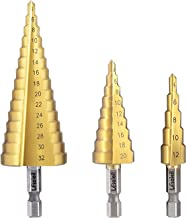 LESOLEIL HSS Pagoda Drill Cone Drill Peeler Set - Kegelvormige Boorschilmesje Boor voor Roestvrij Staal Plastic Metaal Hou...