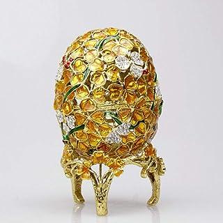 Les décorations de la maison WHSS Boîte À Bijoux De Cadeau D'œuf De Fleur En Métal De Fête/Boîte À Bijoux/Cadeau De Mariag...