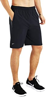 Mens 9 Inch Lightweight Running Workout Shorts with Liner Loose-Fit Gym Shorts for Men with Zipper Pockets