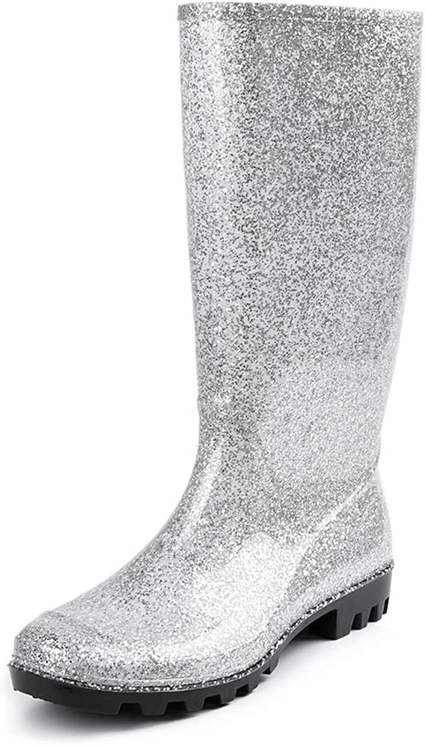 DKSUKO Womens Wellie Rain Boot Original Tall Waterproof Wellington Boots