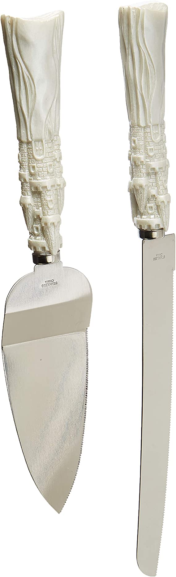 FASHIONCRAFT 2476 Fairytale design/Cinderella themed stainless-steel Cake cutter and knife set