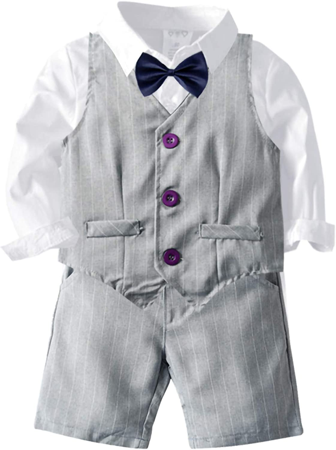 lowest price puseky Child Boy Suit Clothes Long Waistc Tie Bow Sleeve + Shirt Max 76% OFF