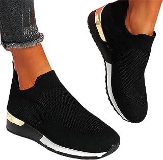 SHADIOA Femme Chaussette Baskets Chaussures, Mode sans Lacet Mocassins infirmière Chaussures légères Marche Chaussures déc...
