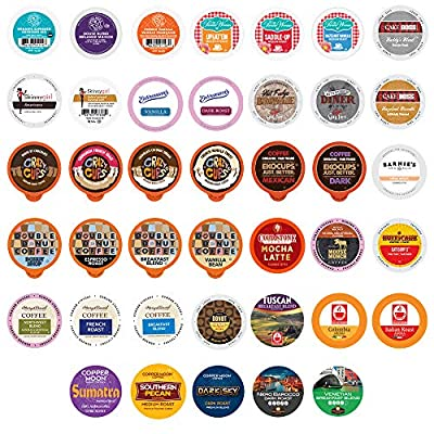 Coffee Variety Sampler, Including Dark Roast, Medium Roast, & Flavored Coffee Pods, Coffee Pods Variety Pack for Keurig K Cups Machines, Perfect Coffee Gift Set, 40 Count