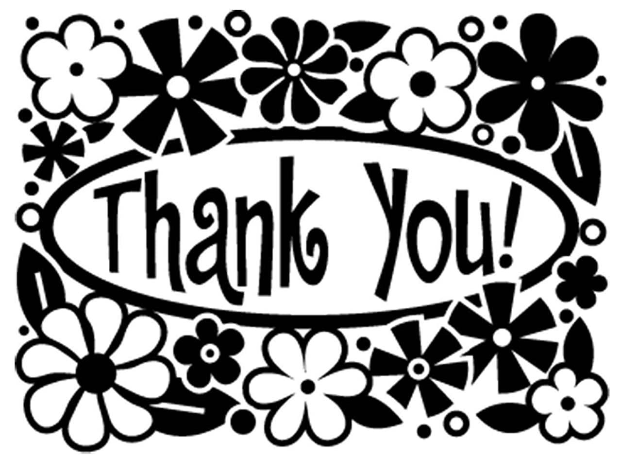Darice 1216-55 10.8 x 14.6 cm Thank You Embossing Template