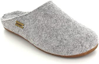 Haflinger Unisex Felt Slipper | Everest Fundus, Stone Gray